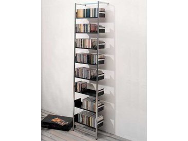 Anlehnregal CD-Pool Mox schwarz, Designer André Zingg, 183x42x23 cm