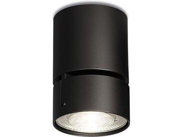 LED Deckenaufbaulicht Wittenberg 4.0 Fernrohr Mawa Design schwarz, Designer Jan Dinnebier, 11.6 cm