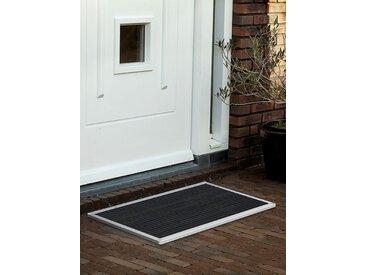 Outdoor Fußmatte door-line RiZZ silber, Designer Teun Fleskens, 2.2x87x44 cm