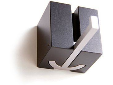 pieperconcept Wandhaken Ancora schwarz, Designer Murken & Hansen, 6.3x6.3x5.3 cm