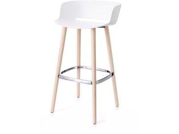Barsitz Babila Pedrali weiß, Designer Odoardo Fioravanti, 92x50x45 cm