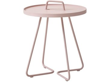 Beistelltische On-the-move Cane-line rosa, Designer Christina Strand, Niels Hvass, 54x44x44 cm