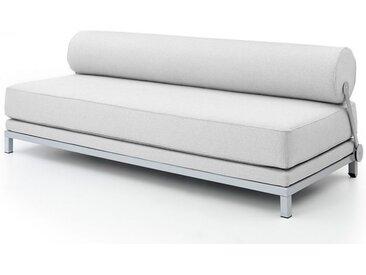 Softline Bettsofa Sleep grau, Designer Busk & Hertzog, 73x204x90 cm