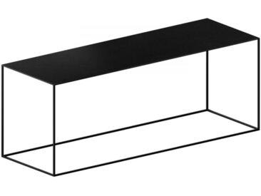 Beistelltisch Slim Irony Low Table Zeus schwarz, Designer Maurizio Peregalli, 46x124x41 cm