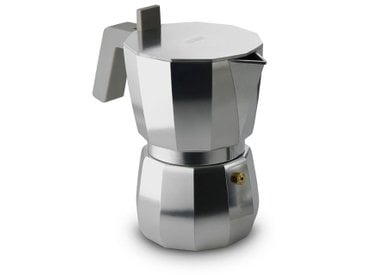 Espressokocher Moka Alessi, Designer David Chipperfield, 18x18 cm
