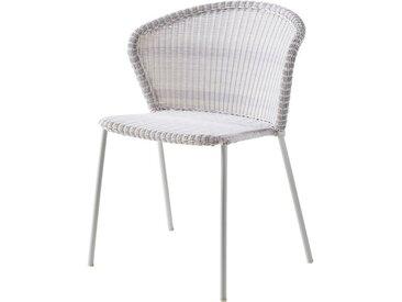 Stapelsessel Lean Cane-line grau, Designer Hee Welling, Gudmundur Ludvik, 80x59x43 cm