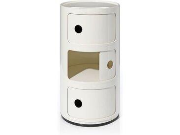 Kartell Container Componibili weiß, Designer Anna Castelli Ferrieri, 58.5 cm