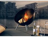 Terrassenfeuer FireGlobe Eva Solo schwarz, Designer Tools Design, 75x64x64 cm