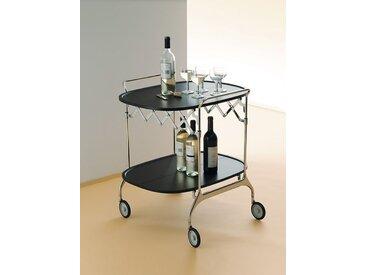 Kartell Servierwagen Gastone schwarz, Designer Antonio Citterio, 70x68x62 cm