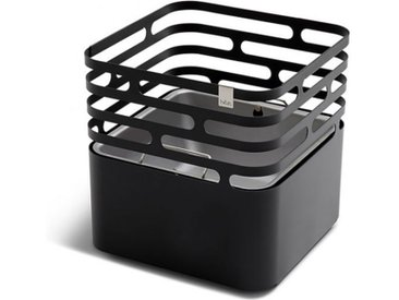 Terrassenfeuer Cube höfats schwarz, Designer Thomas Kaiser, Christian Wassermann, 44x43x43 cm