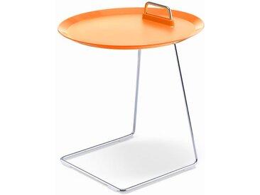 Tablett-Tisch Porter orange, Designer Designstudio speziell®, 52 cm