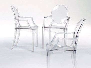 Kartell Armlehnstuhl Louis Ghost transparent, Designer Philippe Starck, 95x56.5x58.5 cm