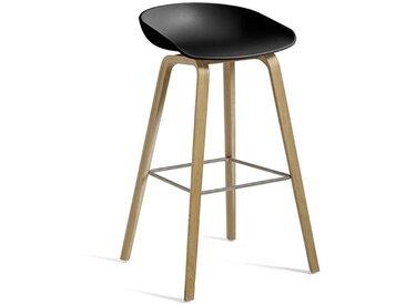 HAY Barhocker About A Stool AAS32 schwarz, Designer Hee Welling, 86x50x46 cm