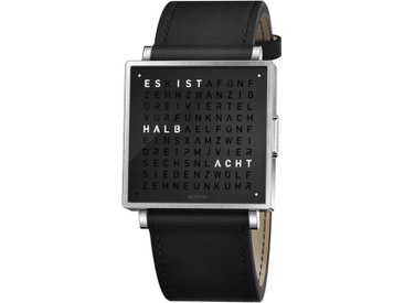 Armbanduhr Qlocktwo W35 QLOCKTWO schwarz, Designer Andreas Funk, Marco Biegert, 0.9x3.5x3.5 cm