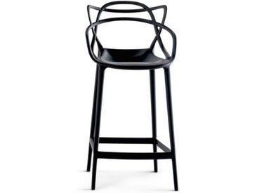 Kartell Barhocker Masters Stool schwarz, Designer Philippe Starck & Eugeni Quitllet, 99x57x47 cm