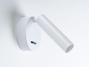 LED-Wandstrahler mit Schalter New Milan weiß