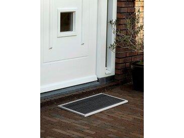 Outdoor-Fussmatte door-line RiZZ silber, Designer Teun Fleskens, 2.2x58x36 cm