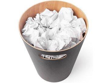 Papierkorb Woodrow Umbra beige, Designer Henry Huang, 28 cm