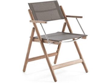 Klapp-Stuhl mit Armlehnen Sahara, Designer Quality Works Design Studio, 82x52x58 cm