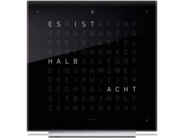 Tischuhr Qlocktwo Touch QLOCKTWO schwarz, Designer Biegert & Funk, 13.5x13.5x1.8 cm