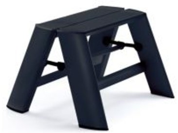 Tritthocker Lucano Thomas Merlo schwarz, Designer Chiaki Murata, 28x39x57 / 15.5 cm