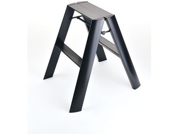 Trittleiter Lucano Thomas Merlo schwarz, Designer Chiaki Murata, 62x48.5x15.5 / 57 cm