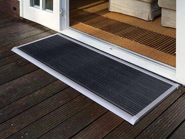 Outdoor-Fußmatte New Standard RiZZ silber, Designer Trudie Zuiddam/WELL design, 2.2x120x70 cm