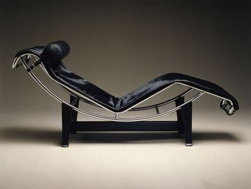 Cassina Cassina LC4 Liege schwarz, Designer Le Corbusier, 56.4 cm