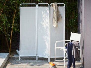 Jan Kurtz Möbel Paravent Fiam weiß, Designer Francesco Favagrossa, 163x154 cm