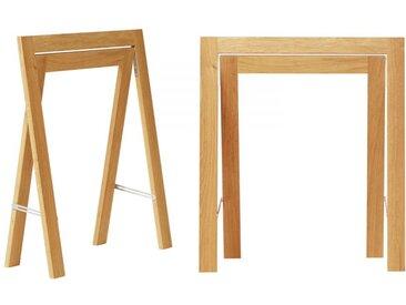 Tischböcke Austere Trestle Form and Refine beige, Designer Kristian Vedel, 70.5x24.5x64 cm
