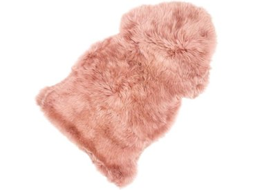 Sitzauflage Lammfell rosa, 5x95x50 cm