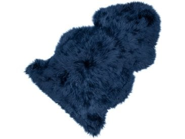 Sitzauflage Lammfell blau, 5x95x50 cm
