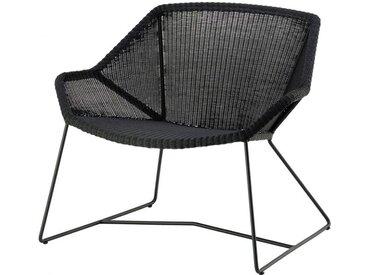 Loungesessel Breeze Cane-line schwarz, Designer Christina Strand, Niels Hvass, 73x87x72 cm