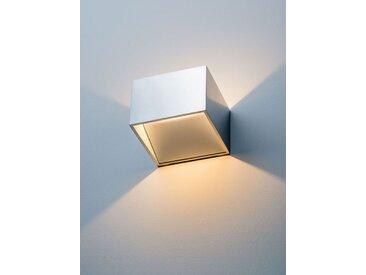 LED-Wandleuchte New Kube weiß, 7x10x10 cm