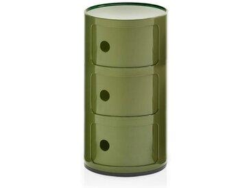 Kartell Container Componibili grün, Designer Anna Castelli Ferrieri, 58.5 cm