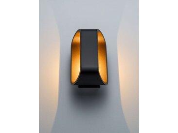 LED-Wandspot Orsay schwarz, 18x10x9.2 cm
