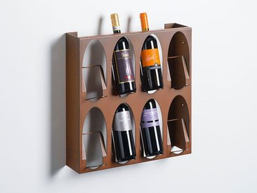 Weinregal Libreria del Vino Elite, TO BE, Designer Ruggero Camilotto, 50x50x18 cm