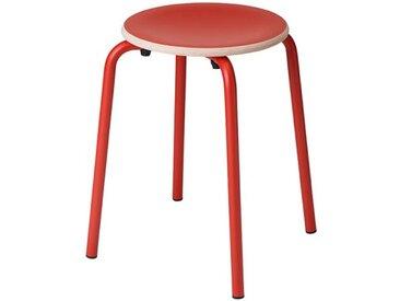Hocker TabCollege rot, Designer Perfecta, 46x35x35 cm