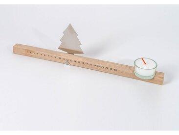 Advents-Kalender Adventsleiste designimdorf, Designer Anton Preis, 9x34x2 cm