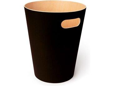 Abfallkorb Woodrow Umbra beige, Designer Henry Huang, 28 cm