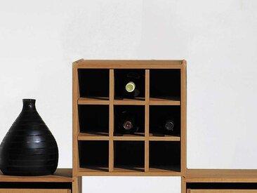 Weineinsatz für Stapelbox mehrfarbig, 33x33x30 cm