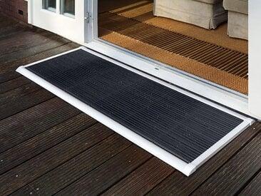 Outdoor-Fußmatte New Standard RiZZ weiß, Designer Trudie Zuiddam/WELL design, 2.2x90x60 cm