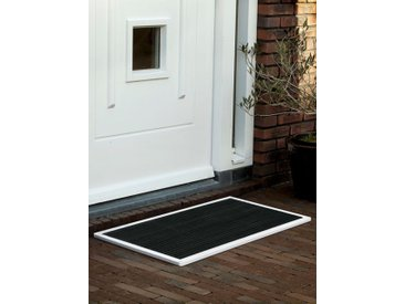 Outdoor-Fussmatte door-line RiZZ weiß, Designer Teun Fleskens, 2.2x87x44 cm