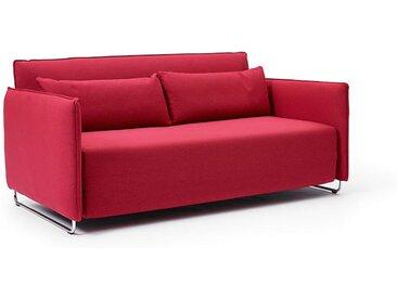 Softline Bettsofa Cord rot, Designer Busk & Hertzog, 76x170x96 cm