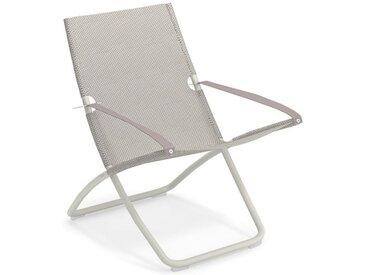 Liegestuhl Snooze Emu Group weiß, Designer Chiaramonte & Marin, 105x75x91 cm