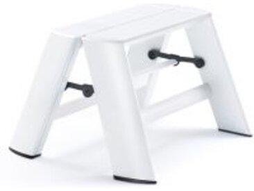 Tritt-Stockerl Lucano Thomas Merlo weiß, Designer Chiaki Murata, 28x39x57 / 15.5 cm
