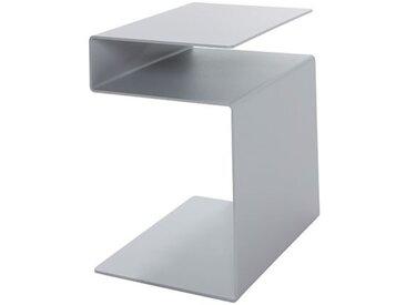 Beistell-Tisch HUK Müller Möbelwerkstätten silber, Designer Michael Hilgers, 44x40x30 cm
