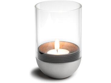 Wind-Licht Gravity Candle höfats silber, Designer Thomas Kaiser, Christian Wassermann, 13 cm