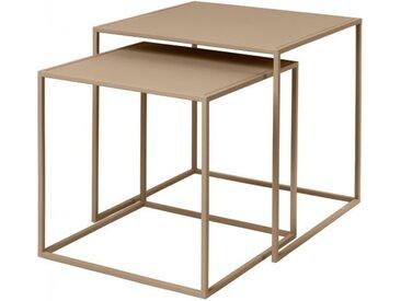 Beistelltische (2er-Set) Fera Blomus grau, 35/40x35/40x35/40 cm