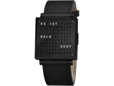 Armbanduhr Qlocktwo W35 Biegert & Funk schwarz, Designer Andreas Funk, Marco Biegert, 0.9x3.5x3.5 cm
